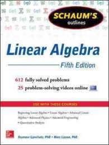 Schaum's Outline of Linear Algebra (Schaum's Outlines) (5TH)