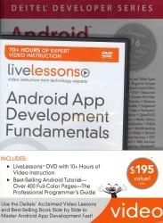 Android App Development Fundamentals/ Android for Programmers : An App-driven Approach (Livelessons: Deiel Developers Series) (DVDR/PAP R)
