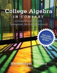 �N���b�N����ƁuCollege Algebra in Context with Integrated Review + Mymathlab Student Access Card and Sticker�v�̏ڍ׏��y�[�W�ֈړ����܂�