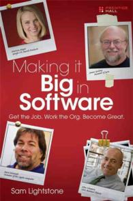 Making It Big in Software : Get the Job. Work the Org. Become Great.