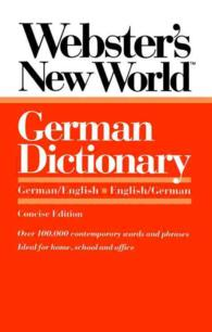 Webster's New World German Dictionary : German/English English/German (Concise)