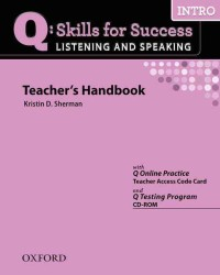 �N���b�N����ƁuQ:listening & Speaking -introductory Teachers Book�v�̏ڍ׏��y�[�W�ֈړ����܂�