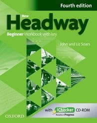 New Headway Fourth Edition Beginner Workbook with Key Ichecker (New)