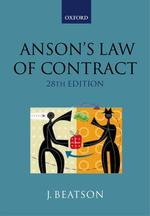 Anson's Law of Contract (28TH)