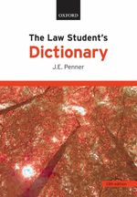 The Law Student's Dictionary (13TH)