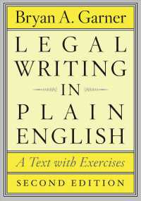 �N���b�N����ƁuLegal Writing in Plain English : A Text with Exercises (Chicago Guides to Writing, Editing, and Publishing)�v�̏ڍ׏��y�[�W�ֈړ����܂�