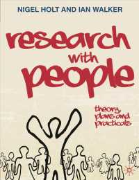 Research with People : Theory, Plans and Practicals