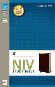 NIV Study Bible : New International Version, Burgundy, Bonded Leather, Personal Size (LEA)