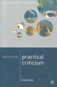 Mastering Practical Criticism (Palgrave Master Series) -- Paperback