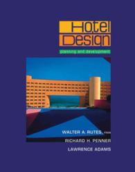 Hotel Design : Planning and Development (Subsequent)