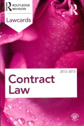 Contract Lawcards 2012-2013 (Lawcards) (8 Revised)