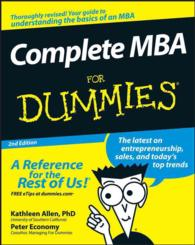 Complete MBA for Dummies (For Dummies (Business & Personal Finance)) (2ND)