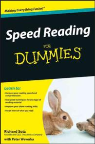Speed Reading for Dummies (For Dummies (Career/education))