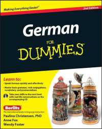 German for Dummies (For Dummies (Language & Literature)) (2 PAP/COM)