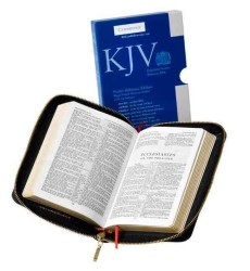 Holy Bible : King James Version, Black French Morocco Leather with Zip Fastener (LEA POC SL)