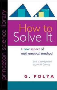 How to Solve It : A New Aspect of Mathematical Method (Princeton Science Library)