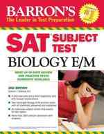 Barron's SAT Subject Test Biology E/M (Barron's: the Leader in Test Preparation) (2ND)