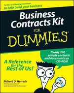 Business Contracts Kit for Dummies (For Dummies (Computer/tech)) (PAP/CDR)