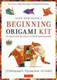 Nick Robinson's Beginning Origami Kit : 72 Folding Papers, 20 Models (PAP/DVD)