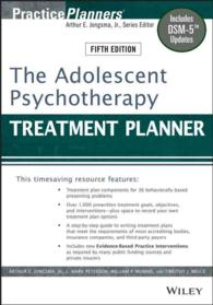 The Adolescent Psychotherapy Treatment Planner (Practiceplanners) (5TH)