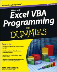 Excel VBA Programming for Dummies (For Dummies (Computer/tech)) (3 PAP/DOL)
