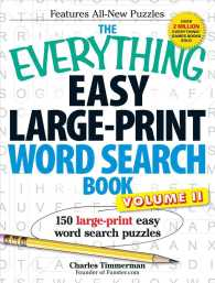 The Everything Easy Large-Print Word Search Book : 150 Large-Print Easy Word Search Puzzles (Everything) (LRG)