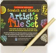 Studio Series Artist's Tiles Scratch & Sketch : 20 Gold Foil, 20 Silver Foil, 20 Swirly Colored Scratch-off Tiles (Studio)