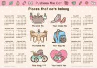 Pusheen the Cat 2015 /calendar poster
