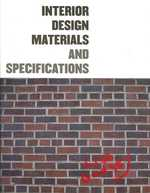 Interior Design : Materials and Specifications (1 PAP/CDR)