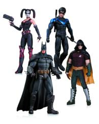 Arkham City Harley Quinn, Batman, Nightwing, and Robin 4 Pack (ACF BOX TO)