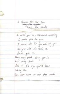 I Wrote This for You : Just the Words