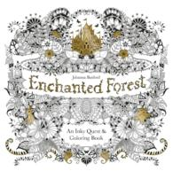 Enchanted Forest : An Inky Quest & Coloring Book (ACT CLR CS)