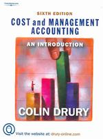 Cost and Management Accounting : An Introduction (6TH)