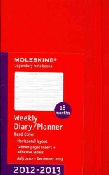 Moleskine Horizontal Red 2012-2013