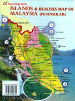 ISLAND AND BEACHES MAP OF MALAYSIA