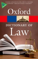 A Dictionary of Law (Oxford Paperback Reference) (7TH)