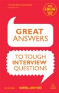 Great Answers to Tough Interview Questions -- Paperback (9 Rev ed)