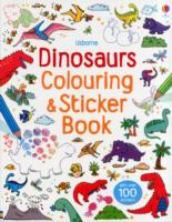 Dinosaurs Sticker and Colouring Book -- Paperback