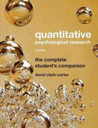 Quantitative Psychological Research : The Complete Student&#039;s Companion (3RD)