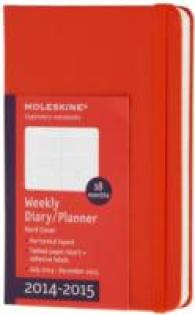 Moleskine 2014-2015 Weekly Planner, Horizontal, 18 Month, Pocket, Red