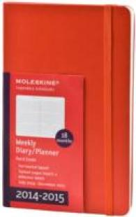 Moleskine Red Large 2014-2015 18 Month Weekly Planner, Horizontal