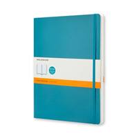 Moleskine Classic Colored Notebook, Extra Large, Ruled, Underwater Blue (NTB)