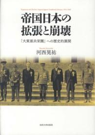 帝国日本の拡張と崩壊-「大東亜共栄圏」への歴史的展開