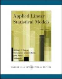 Applied Linear Statistical Models 5e (5TH)