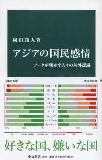 アジアの国民感情 データが明かす人々の対外認識 中公新書  2607