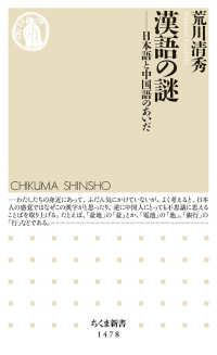 漢語の謎 日本語と中国語のあいだ