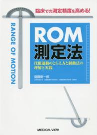 ROM測定法 臨床での測定精度を高める!  代償運動のとらえ方と制動法の理解と実践