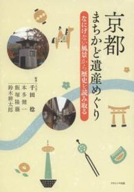 京都  まちかど遺産めぐり なにげない風景から歴史を読み取る
