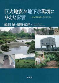 巨大地震が地下水環境に与えた影響 2016熊本地震から何を学ぶか