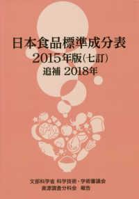 日本食品標準成分表 追補2018年